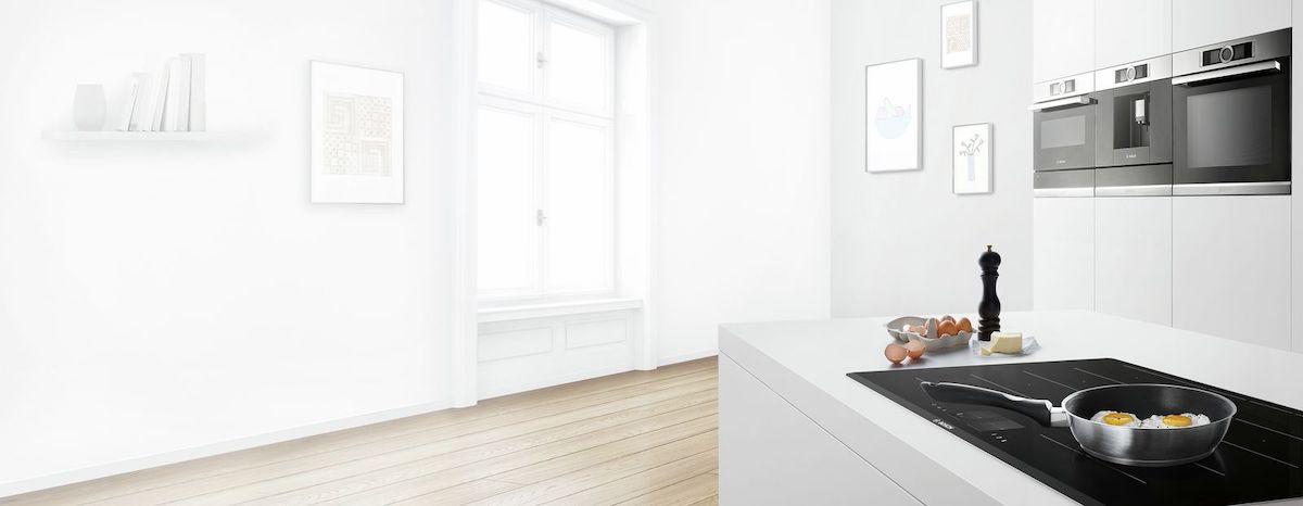 Ambienti interni con elettrodomestici e riscaldamento Bosch