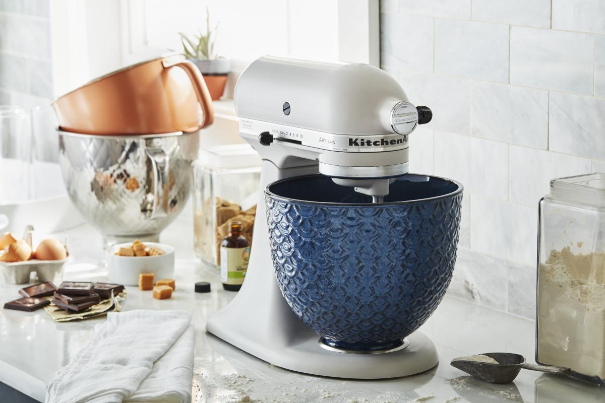 KitchenAind e ciotola personalizzata Blue Mermaid Lace
