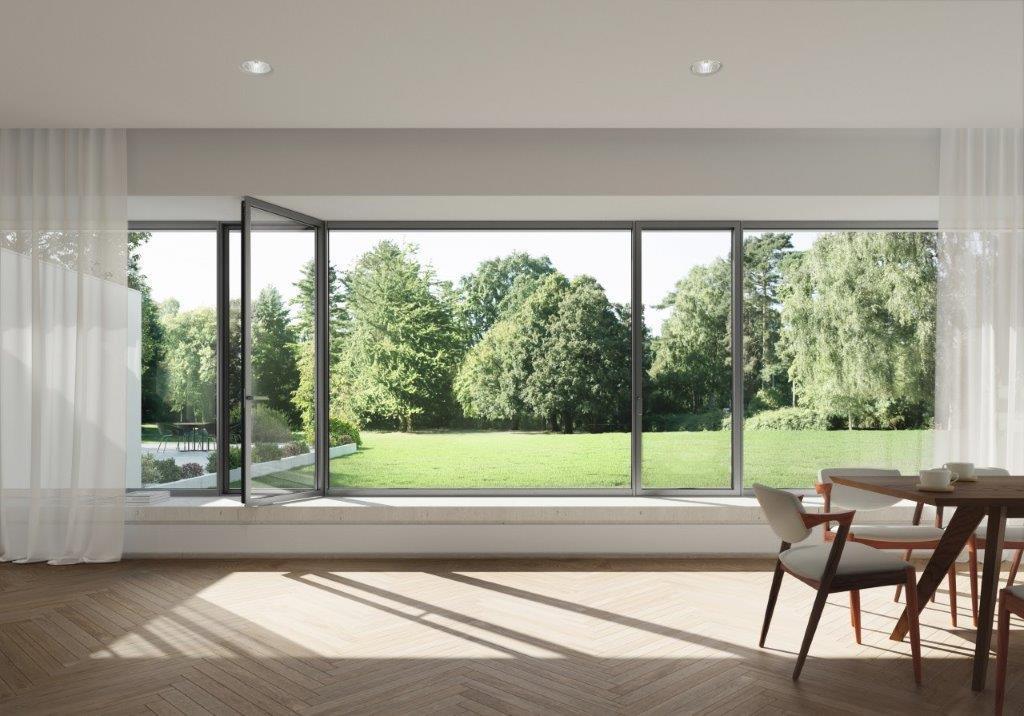 Finestra panoramica Schüco AWS 75 PD.SI: massima trasparenza per spazi