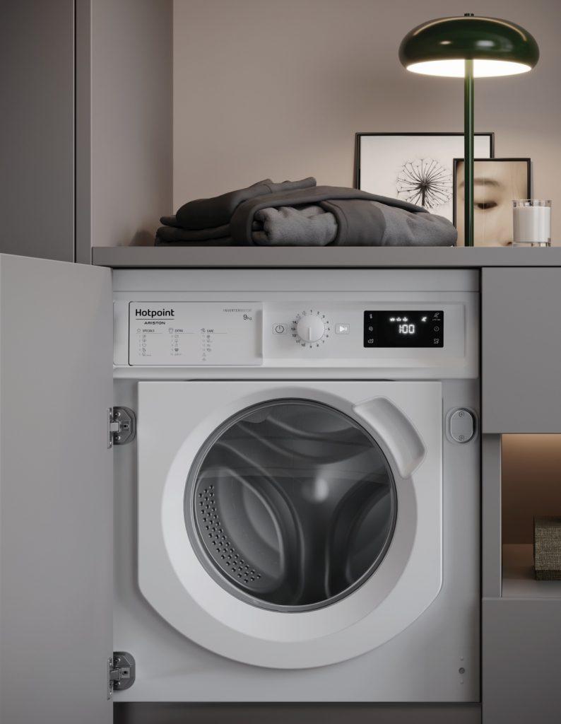 Facilità di carico e scarico per la lavatrice Natis Hotpoint