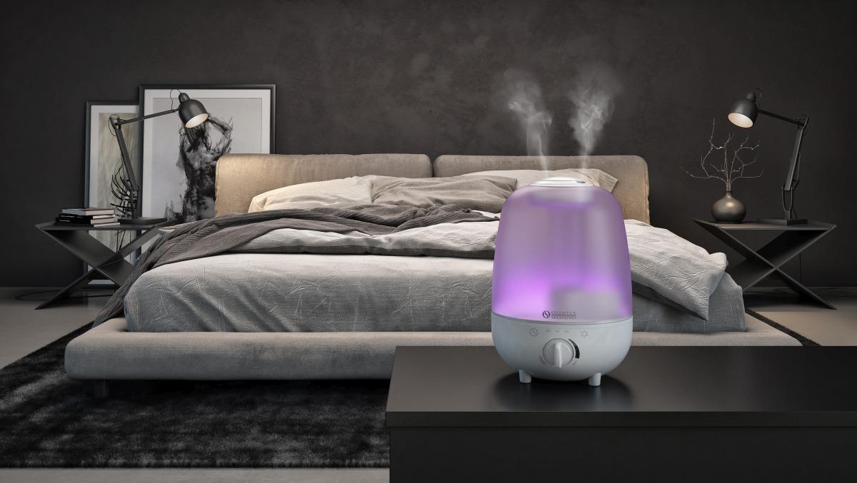 Migliorare la qualità dell'aria in casa con Limpia 4, l'umidificatore di Olimpia Splendid