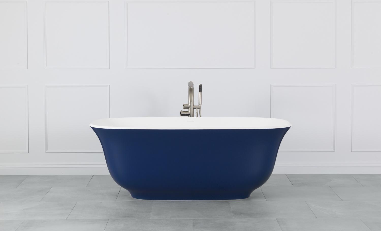La vasca Amiata si adatta a bagni contemporanei