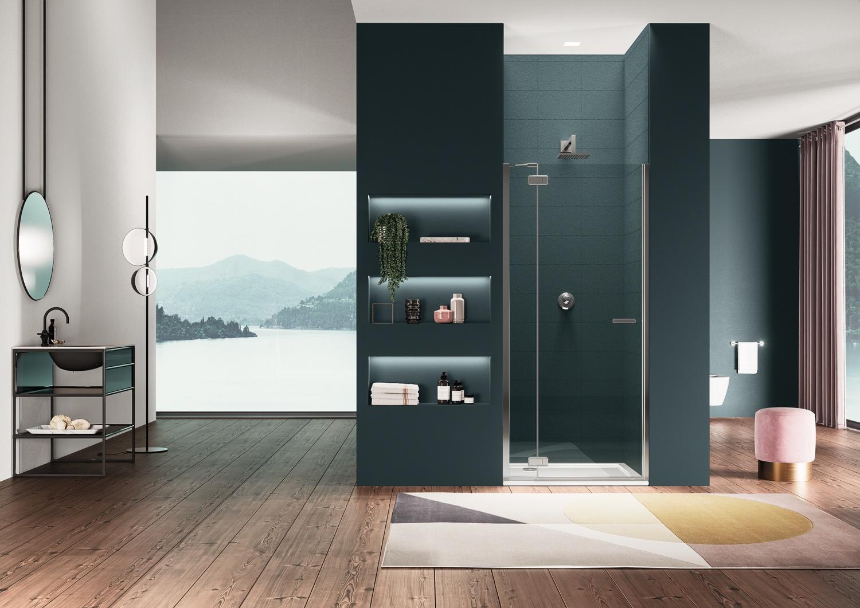 cabine doccia gallery 3000 di duka con installazione profilo a parete