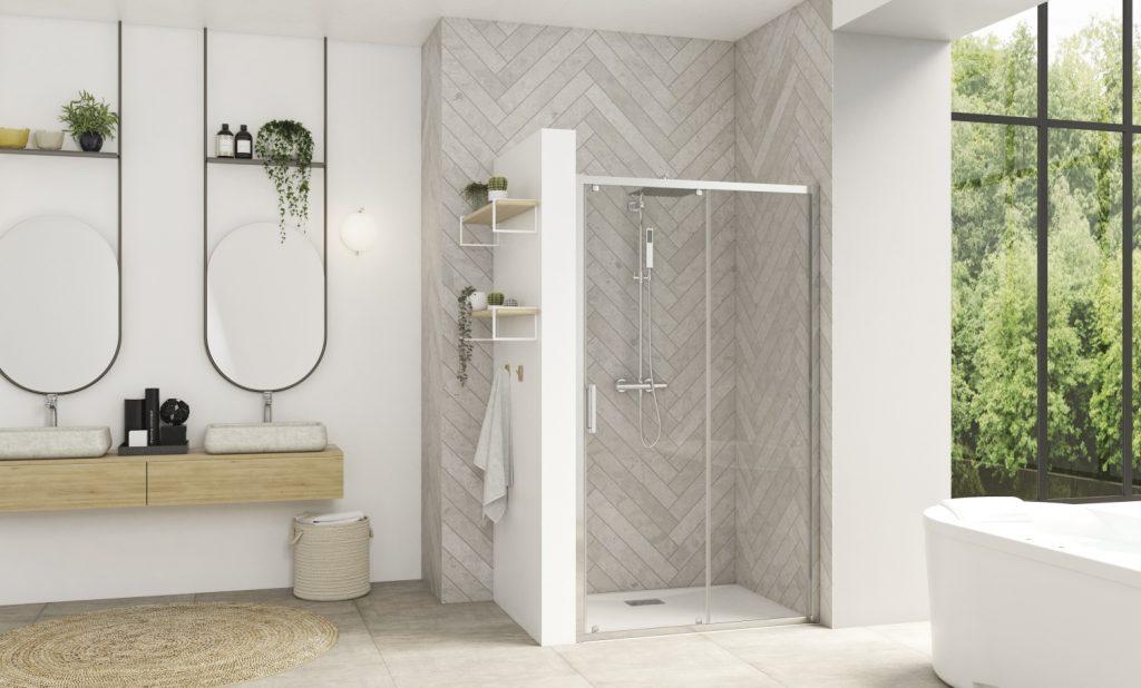 Nella versione Smart Frame Design, il telaio incornicia lo spazio doccia