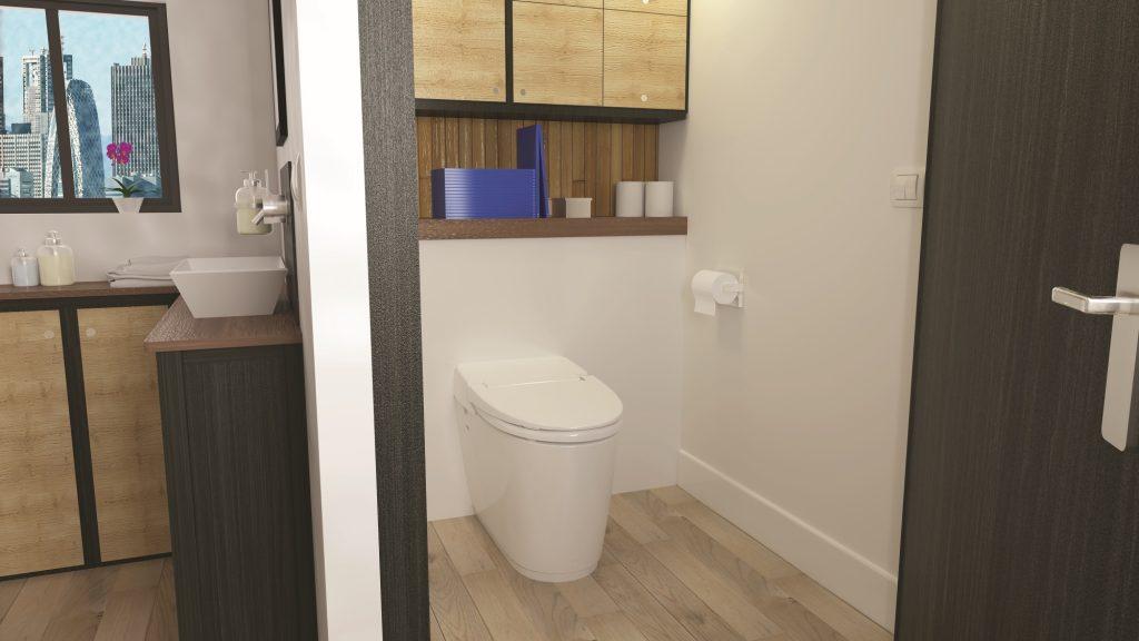 Creare un secondo bagno con il wc con trituratore integrato