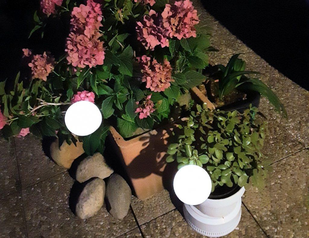 lampade solari per illuminare il giardino o il terrazzo
