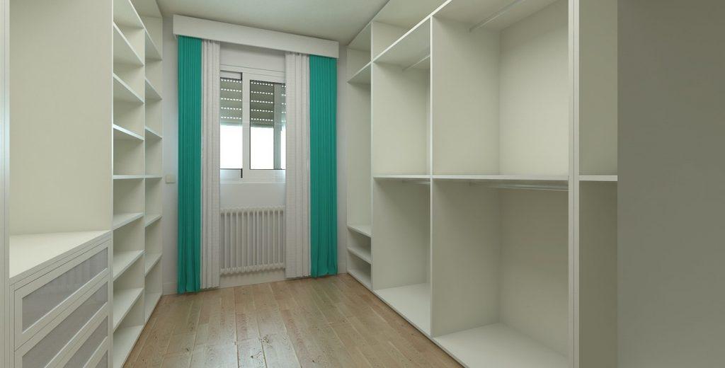 stanza dedicata alla cabina armadio