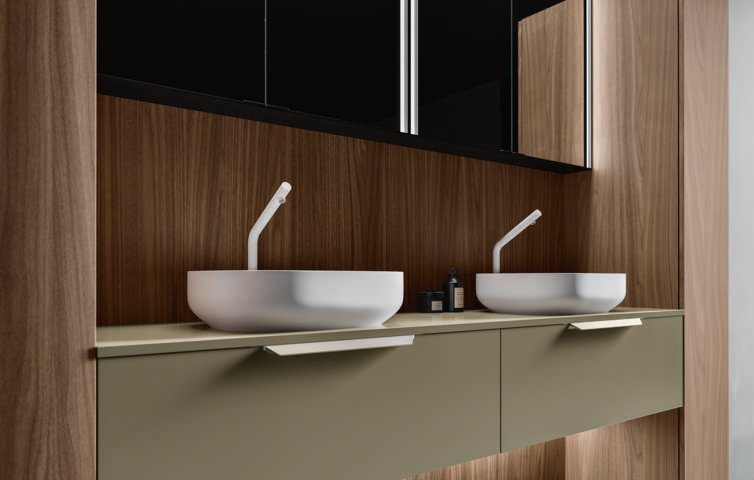 Cerasa Nerolab doppio lavabo per bagno
