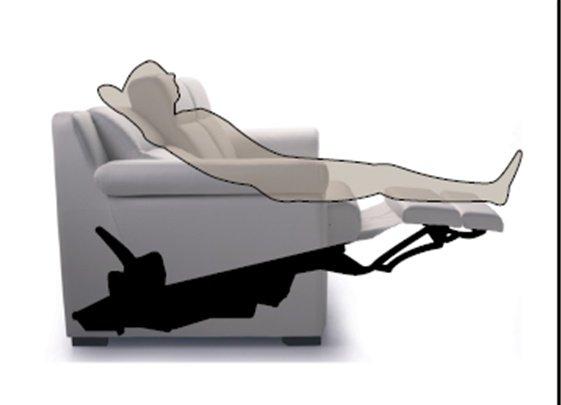 Raffigurazione divano con meccanismo