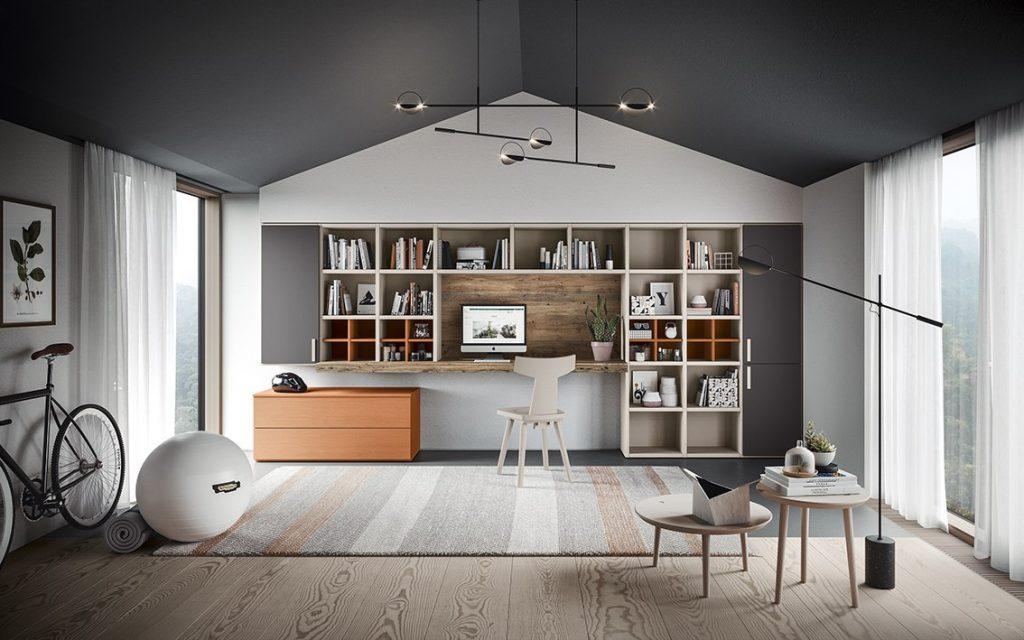 Zona living: spazi funzionali e ottimizzati con Scandola mobili