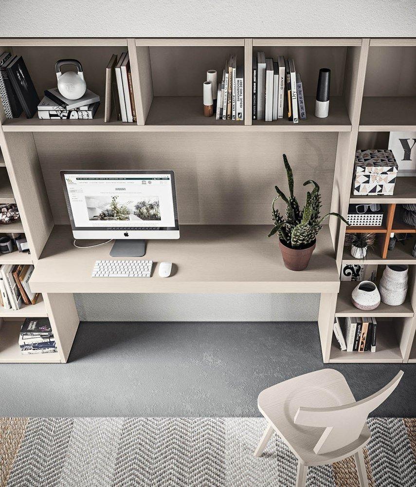 Scandola Mobili parete attrezzata con elemento scrivania