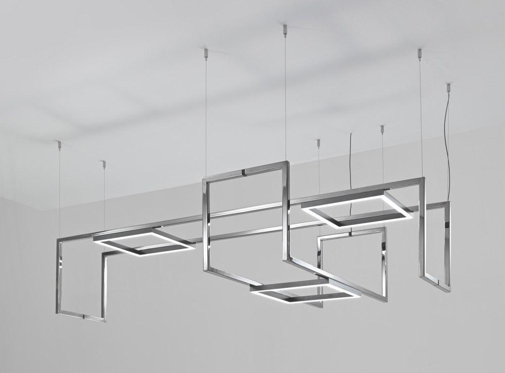 La sospensione Frame Composizione realizzata da Foris