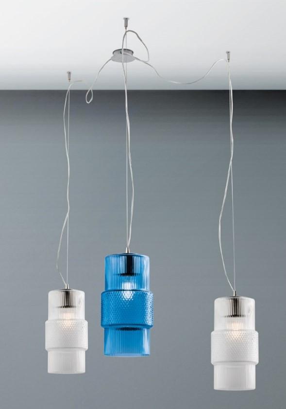 Illuminazione in vetro: lampada Aldbeg