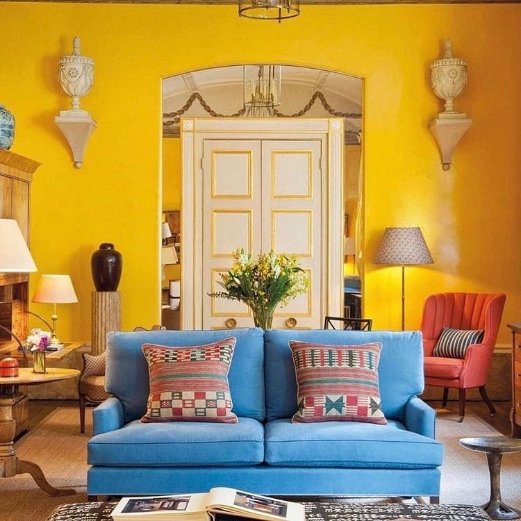 Decorazione giallo brillante