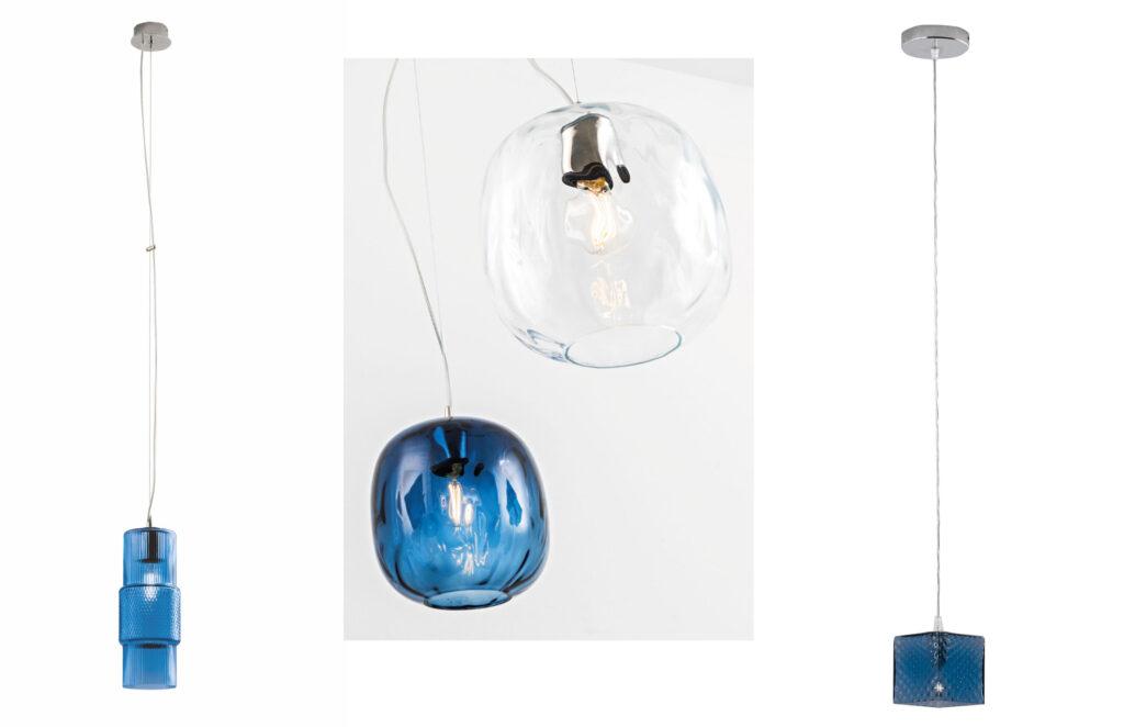 Giochi di luce e forme con l'illuminazione in vetro