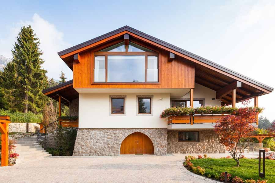 Villa sostenibile ed energeticamente efficiente in Val Seriana