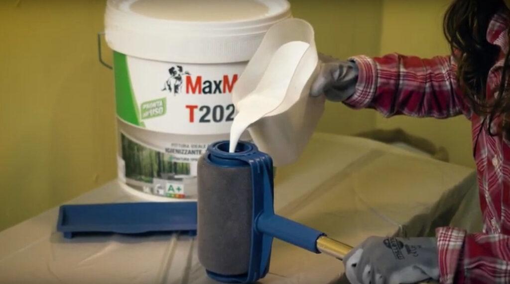 La pittura T2020 di MaxMeyer è ideale per imbiancare la stanza dei bambini