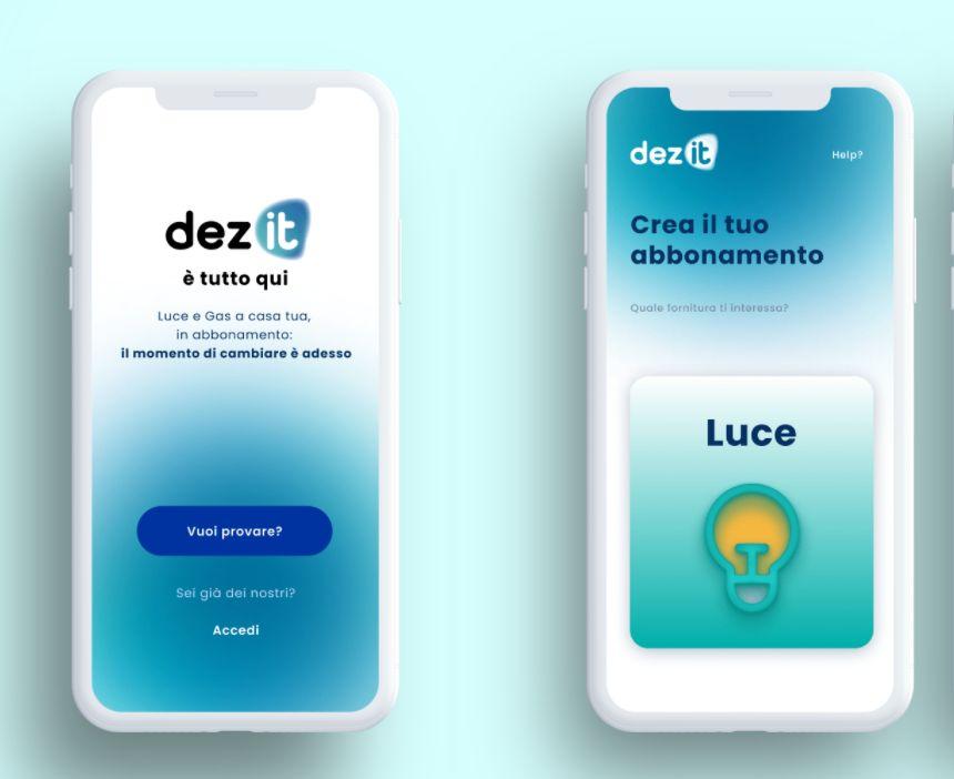 Personalizzare il consumo di luce e gas con l'app dez it
