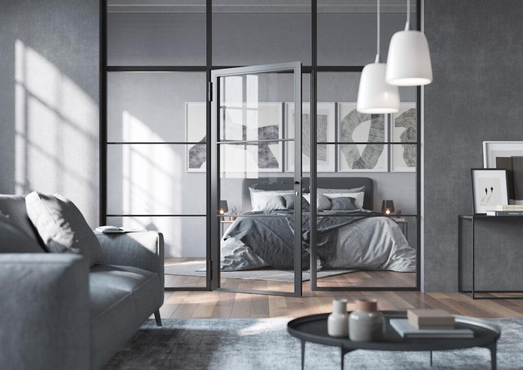 Le porte LFT dividono gli ambienti con un pizzico di look industriale