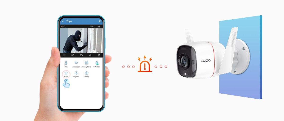 la sicurezza di casa con la videocamera C310 Tp-Link Tapo