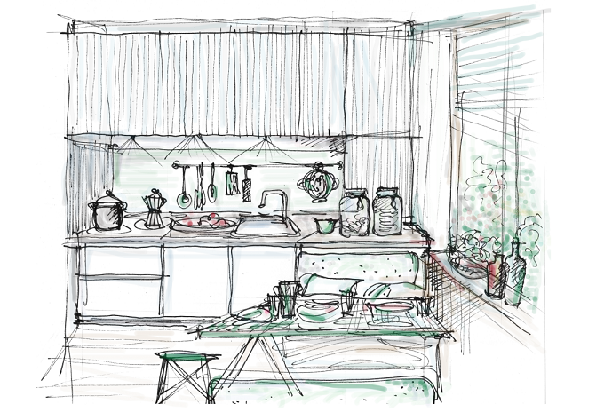 The Playful Home -  Sketch