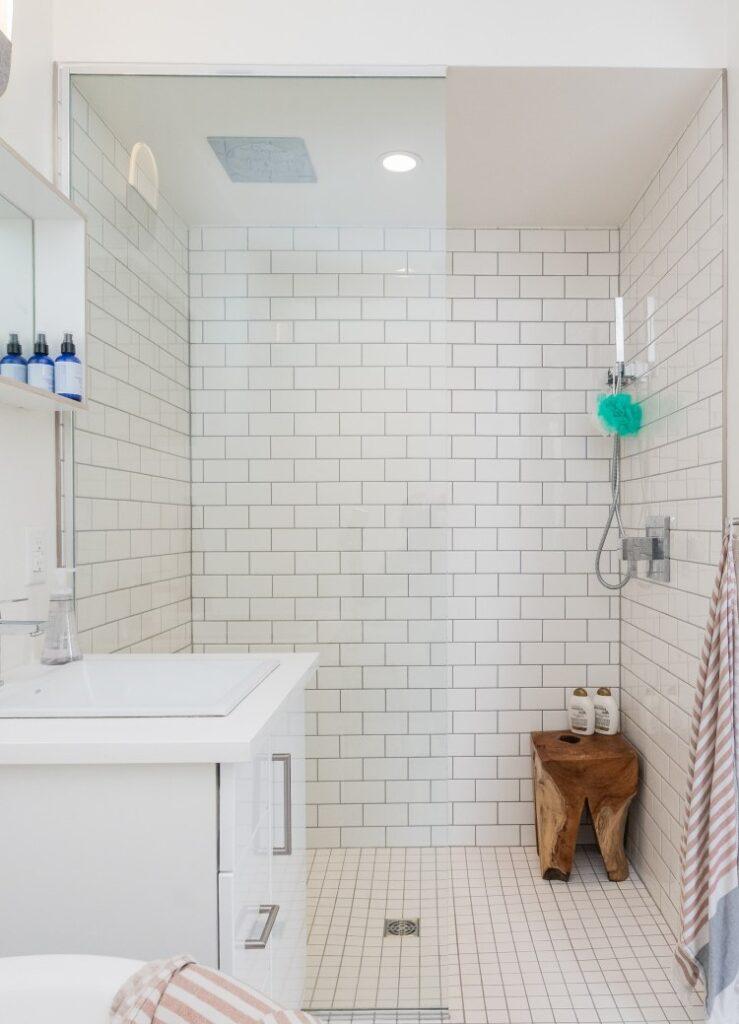 esempio di doccia walk-in